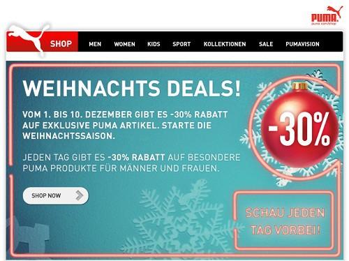 puma newsletter 10 euro