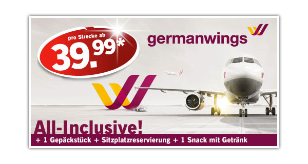 Germanwings günstige Flüge buchen