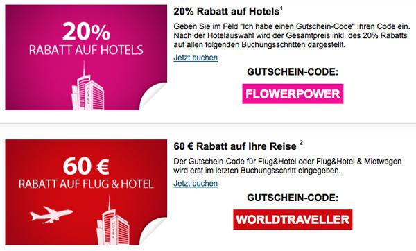 eBookers Gutschein und Rabatt für Hotel und Flug