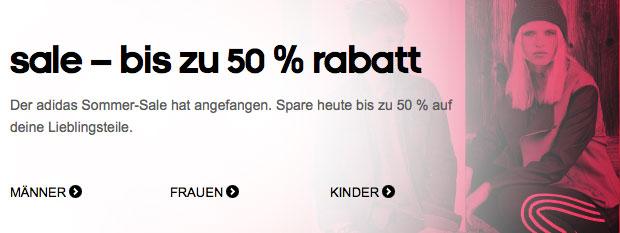 Adidas Sale 50% Rabatt auf Sportartikel