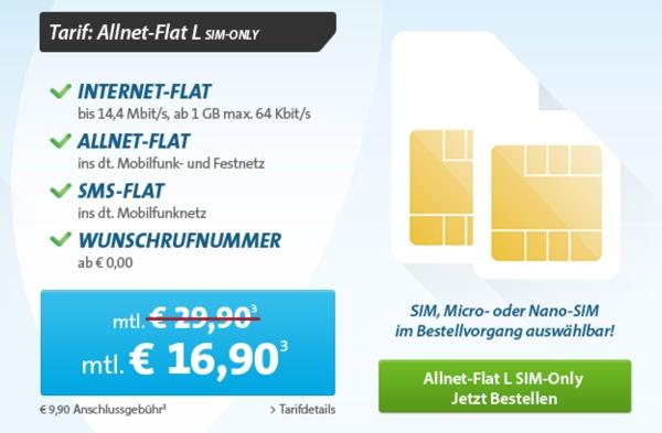 günstige Allnet-Flat und Surfflat im Telekom-Netz
