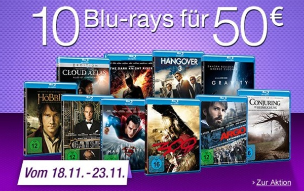 Amazon Aktion 10 Filme für 50 Euro