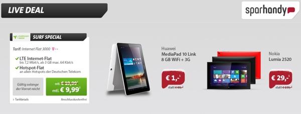 günstige Telekom Internetflat mit 3GB Datenvolumen unter 10 Euro