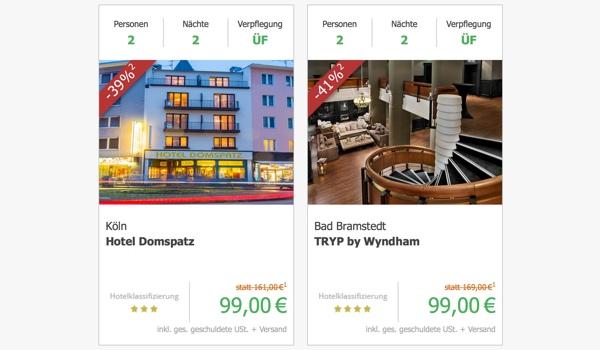 günstige Übernachtung Köln München Berlin Dresden