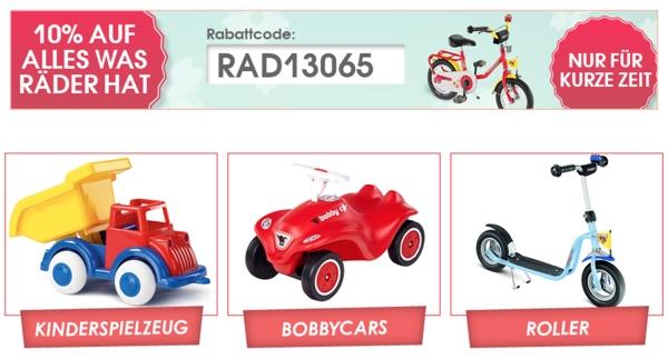 baby-markt.de Gutschein 10 Prozent Rabatt auf Kinderwagen Fahrrad