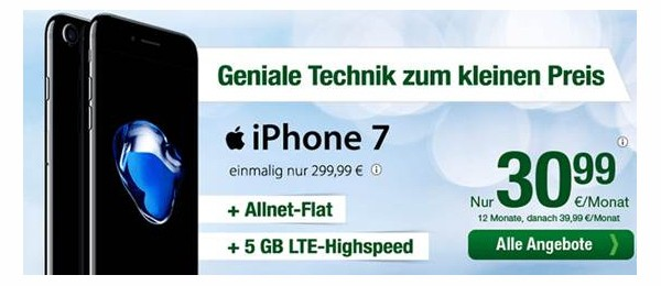 Apple iPhone 7 mit Vertrag