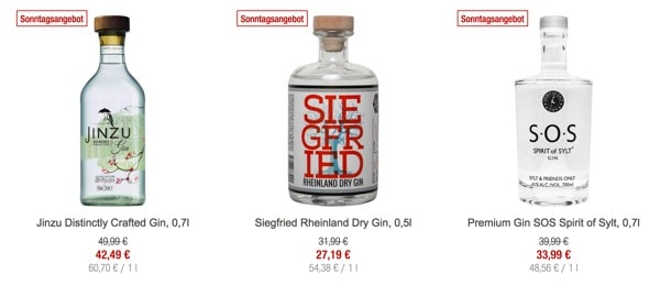 galeria-kauf-Gin Rabatt