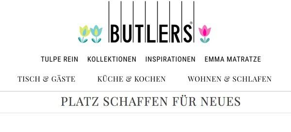 Butlers Rabatt Tische Schrank Stühle