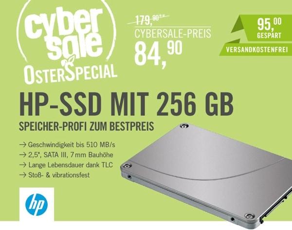 HP SSD-Festplatte 256 GB unter 100 Euro