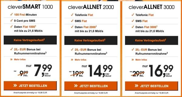günstige Vodafone Allnet-Flat